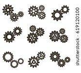 set of gears. vector...   Shutterstock .eps vector #619120100