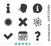 information icons. delete and... | Shutterstock .eps vector #619123484