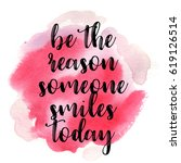 quote be the reason someone... | Shutterstock .eps vector #619126514