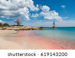 elafonisi island is like... | Shutterstock . vector #619143200