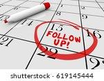 follow up calendar words... | Shutterstock . vector #619145444