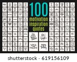 set of 100 hand drawn... | Shutterstock .eps vector #619156109