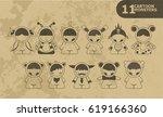 cartoon cute monsters. | Shutterstock . vector #619166360