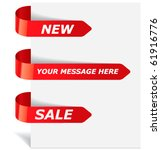 set of red ribbons  new  sale . ... | Shutterstock .eps vector #61916776