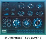 elements for hud interface | Shutterstock .eps vector #619169546