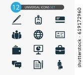 business icons set. collection... | Shutterstock .eps vector #619172960