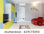 designer and colourful little... | Shutterstock . vector #619173353