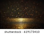 glitter vintage lights... | Shutterstock . vector #619173410