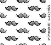 seamless vector pattern with... | Shutterstock .eps vector #619174508