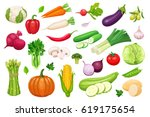 Vector Vegetables Icons Set In...