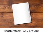 blank book or magazine cover on ... | Shutterstock . vector #619175900