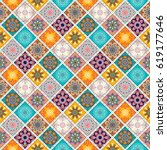 seamless pattern tile with... | Shutterstock .eps vector #619177646