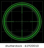 radar screen  vector  | Shutterstock .eps vector #61920010