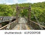 rusty old bridge in the elan... | Shutterstock . vector #619200938