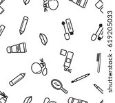 beauty icons pattern. | Shutterstock .eps vector #619205033