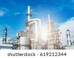 oil and gas industry refinery... | Shutterstock . vector #619212344