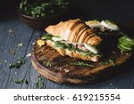 tuna salad sandwiches with... | Shutterstock . vector #619215554