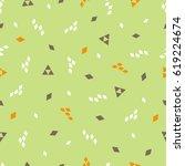 vector seamless pattern.... | Shutterstock .eps vector #619224674