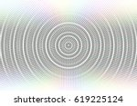 abstract vector circle glitched ... | Shutterstock .eps vector #619225124