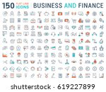 set  line icons in flat design... | Shutterstock . vector #619227899