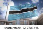 botswana flag 3d rendering on... | Shutterstock . vector #619233446