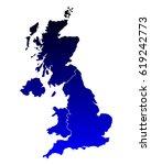 map of united kingdom | Shutterstock .eps vector #619242773