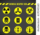 black and yellow chemical... | Shutterstock .eps vector #619243163