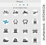 transport web icons for user... | Shutterstock .eps vector #619244126