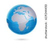 world map and globe | Shutterstock .eps vector #619244450