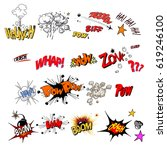 comic sound effect | Shutterstock .eps vector #619246100