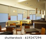 3d rendering of a coffee bar... | Shutterstock . vector #619247294