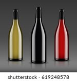 vector  wine bottle  made in a... | Shutterstock .eps vector #619248578