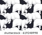 seamless pattern with hand...   Shutterstock .eps vector #619248998