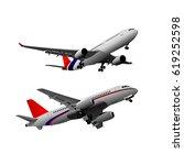 airplane vector illustration | Shutterstock .eps vector #619252598