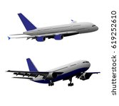 airplane vector illustration | Shutterstock .eps vector #619252610