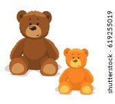 teddy bear | Shutterstock .eps vector #619255019