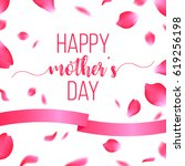 happy mothers day card with... | Shutterstock .eps vector #619256198