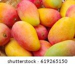 mangos background | Shutterstock . vector #619265150