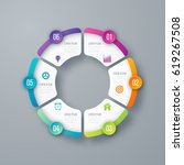vector circle infographic... | Shutterstock .eps vector #619267508