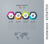 infographic design template.... | Shutterstock .eps vector #619267514