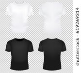 t shirt template set  | Shutterstock . vector #619269314