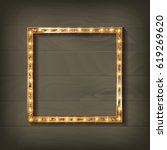 Square Glowing Frame On On...