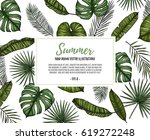 summer tropical background.... | Shutterstock .eps vector #619272248