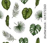 tropical seamless pattern....   Shutterstock .eps vector #619272263