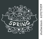 beautiful spring template with... | Shutterstock .eps vector #619275359