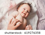 close up portrait of cute happy ... | Shutterstock . vector #619276358
