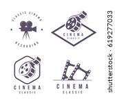 cinema labels emblem logo... | Shutterstock .eps vector #619277033