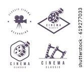 cinema labels emblem logo... | Shutterstock .eps vector #619277033