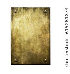 Small photo of Grunge bronze. Metal background. Golden plaque. Bronze plaque.