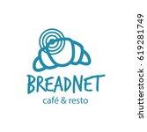 bread logo concept in simple...   Shutterstock .eps vector #619281749